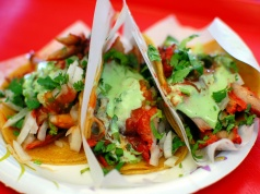 Tacos Adobada at Tacos El Gordo